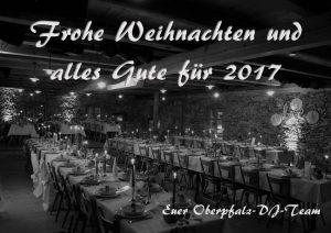 Weihnachts- und Neujahrsgruesse 2017